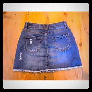 Fashion Nova denim skirt never worn, no tags.